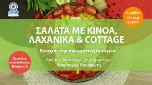 salata me kinoa lachanika kai cottage